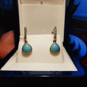 Monet Turquoise drop earrings